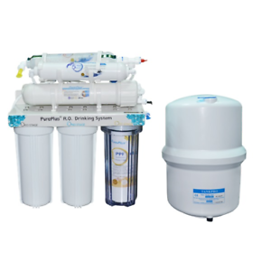PurePlus RO-6 6-Stage RO Reverse Osmosis System With Booster Pump And Faucet