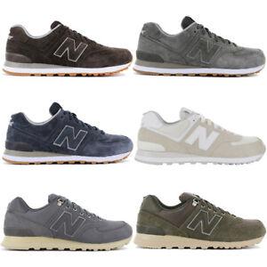 aaaed587da9a86 Das Bild wird geladen New-Balance-574-Herren-Sneaker-Schuhe-Freizeit- Turnschuhe-