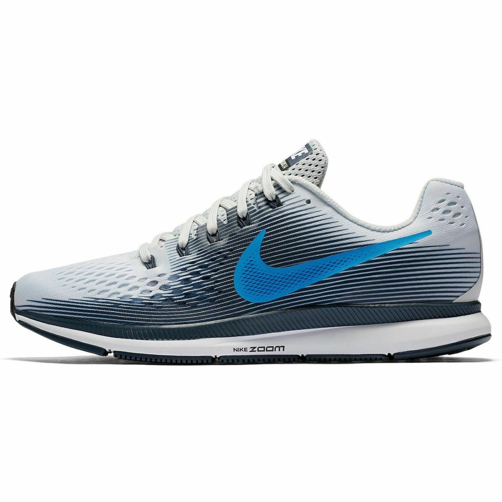 NIB Nike Air Zoom Pegasus 34 Platinum bluee White Sneakers 880555-008 MEN'S Sz 11