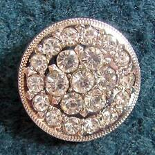 """1"""" Round Concho iridescent crystals for Headstall Saddle Spurs Strap Chaps!"""