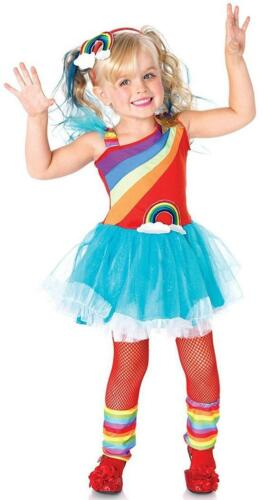 Rainbow Doll Clown Brite Bright Fancy Dress Up Halloween Toddler Child Costume