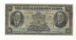 1927-The-Royal-Bank-of-Canada-20-Note-Ch-630-14-12-SN-283405