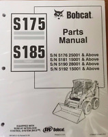 Bobcat S175, S185 Skid Steer Parts Catalog Manual 6901856 & Service Manual