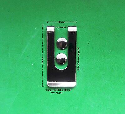 10 X Piastra Nickle Acciaio Metallo Forte Clip Da Cintura Utility A Molla Clip Dei Soldi- Sconto Online