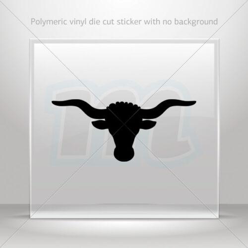 Decal Stickers Bull Head Helmet Motorbike Boat Door vinyl Garage st5 ZK786