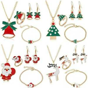 UK-Christmas-Jewelry-Necklace-Earrings-Ring-Bracelet-Set-Women-Girls-Xmas-Gifts