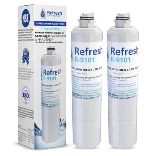 by Refresh Replacement For Samsung RF28JBEDBSG//AA Refrigerator Water Filter