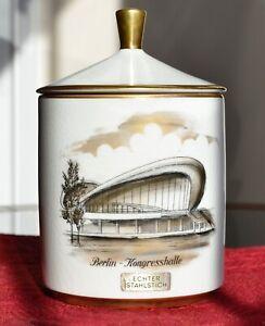 "Pottery & Glass Kronach Oca Kunst Bavaria Jar German Porcelain Berlin Kongresshalle 6"" With Lid Pottery & China"