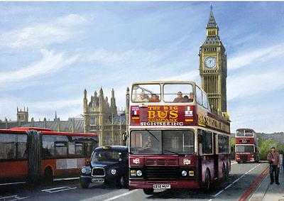 AEC RT Regal London Bus Piccadilly 1950s Transport Nostalgic Blank Birthday Card