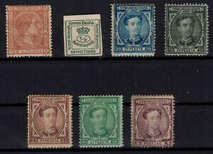 P133279-SPAIN-1875-1876-MINT-MH-NO-GUM-CLASSIC-LOT-CV-190