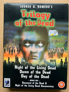 Trilogie-Of-The-Dead-DVD-Coffret-Romero-Night-Dawn-Day-Horreur-4-Disc-Ancre-Baie