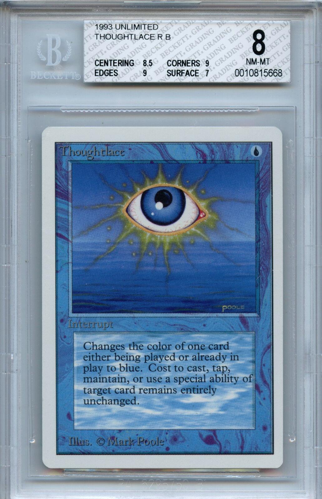 Mtg unbegrenzt thoughtlace bgs 8,0 (8) nm-mt karte magie amricons 5668