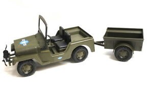 Rolly-Toys-GI-JOE-Army-Jeep-mit-Haenger