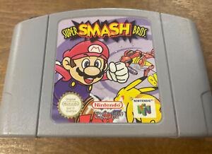 Super Smash Bros Nintendo N64 cartucho sólo