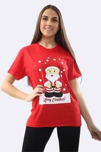Unisex-Women-Men-Snowman-Santa-Penguin-Reindeer-T-Shirts-Christmas-T-Shirt-Top