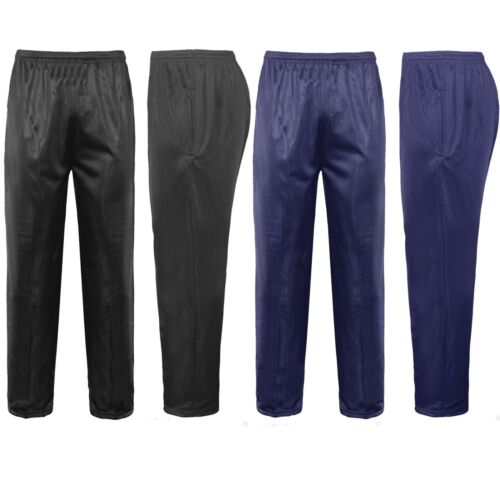 Mens Silky Work Wear Gym Casual Tracksuit Track Bottoms Pants Trousers All Sizes