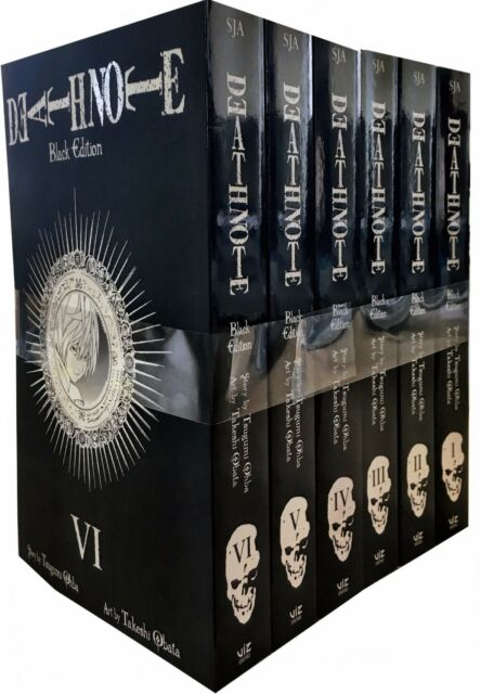 Death Note Black Edition Volume 1-6 Collection 6 Books Set Manga Tsugumi Ohba