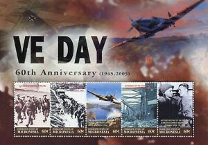 Micronesie-2005-neuf-sans-charniere-WWII-WW2-VE-Day-fin-seconde-guerre-mondiale-5-V-MS-Hawker