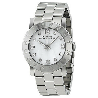 Marc Jacobs Amy White Dial Stainless Steel Ladies Watch MBM3054