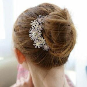 Women-Crystal-Trendy-Pin-Hairwear-Flower-Hair-Comb-Accessories-1pcs-Rhinestone