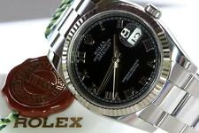 MENS ROLEX 116234 18K WG & SS NEW STYLE DATEJUST, ENGRAVED, Z SERIAL 2006 !!