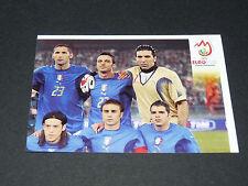 N°282 EQUIPE SQUADRA P2 ITALIA ITALIE GLI AZZURRI PANINI FOOTBALL UEFA EURO 2008