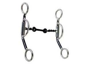 5/'/' Horse Western Twisted Wire Dog Bone Snaffle Long Shank Bit w// Curb 35299