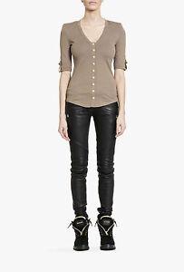 BALMAIN-Cotton-Popper-Front-Shoulder-Pad-T-Shirt-Top