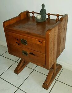 Image Is Loading YOUNG HINKLE Cherry Solid Wood Night Stand