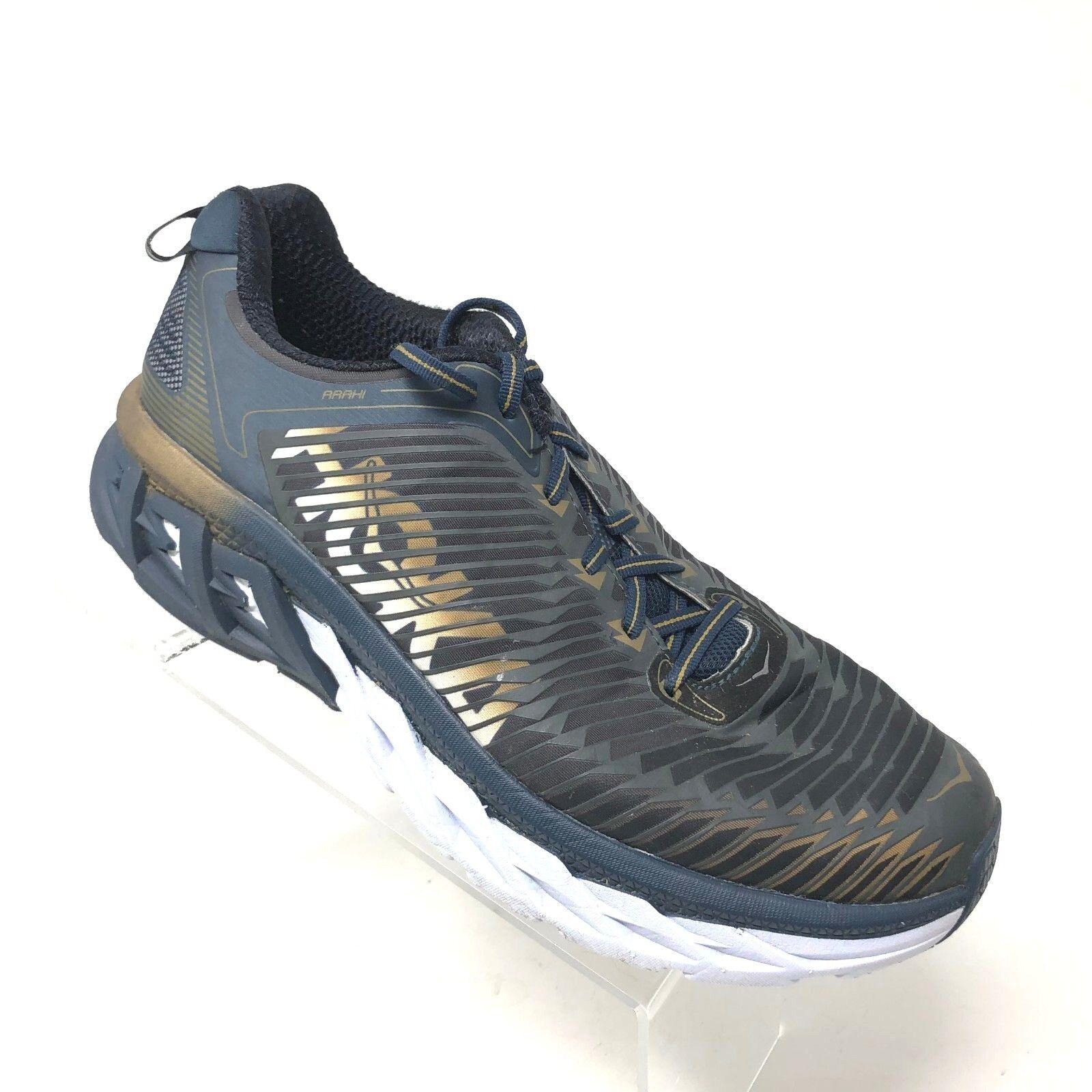 Hoka Arahi Road Correr Zapatillas Con Cordones Calzado Atlético oro gris Para Hombre