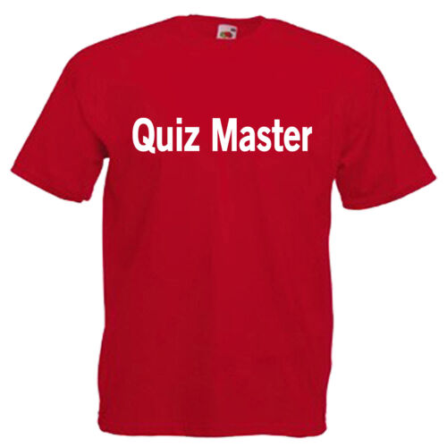Quiz Master Children/'s Kids Childs T Shirt