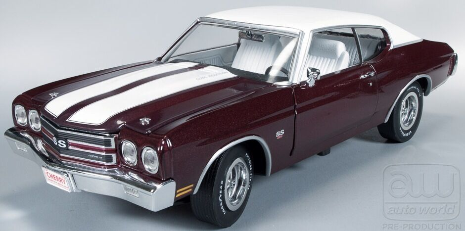 Chevelle 1970 cereza negra negra negra 1 18 Auto World 1011  garantía de crédito