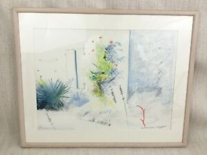 Original Bleistift Zeichnung Sketch French Garten Britisch Royal Academy Artist