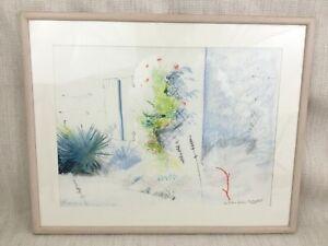 Originale Matita Disegno Schizzo Francese Giardino British Royal Academy Artista