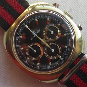 Bucherer-Chronograph-mens-wristwatch-gold-plated-case-cal-Lemania