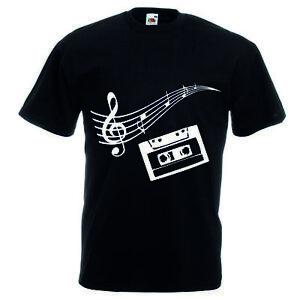 T Shirt Maglia Uomo Donna Nera Con Disegno Chiave Di Violino
