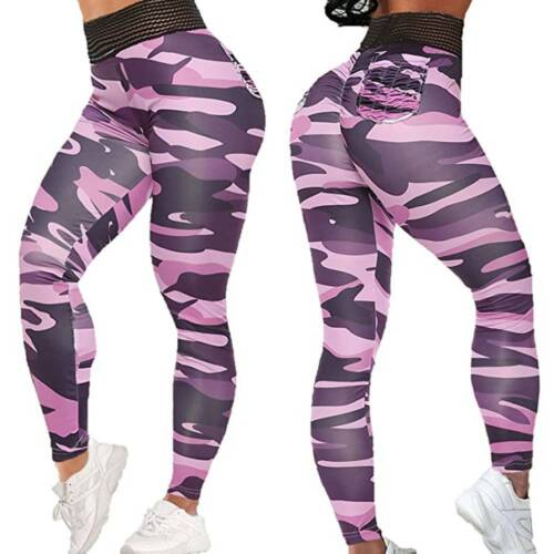 Details about  /Womens High Waist Yoga Pants Anti-Cellulite Workout Leggings Push Up Trousers