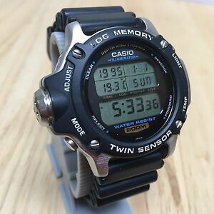 rare vintage casio dep 610 mens air diver 200m depth thermal digital watch hours ebay