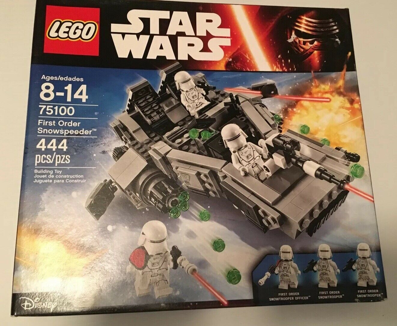 *NO MINIFIGURES* NEW LEGO Star Wars 75100 First Order Snowspeeder with manual
