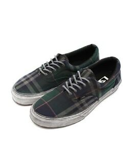 b37b456143 Vans Era CA ( Over Washed Plaid) Black Blue Men s Sk8 Shoe NWB