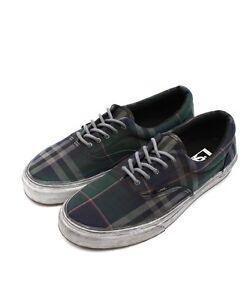 70e8af7b91 Vans Era CA ( Over Washed Plaid) Black Blue Men s Sk8 Shoe NWB