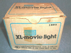 VINTAGE-SEARS-XL-MOVIE-LIGHT-FOR-BETTER-INDOOR-MOVIES-NEW-IN-OPEN-BOX