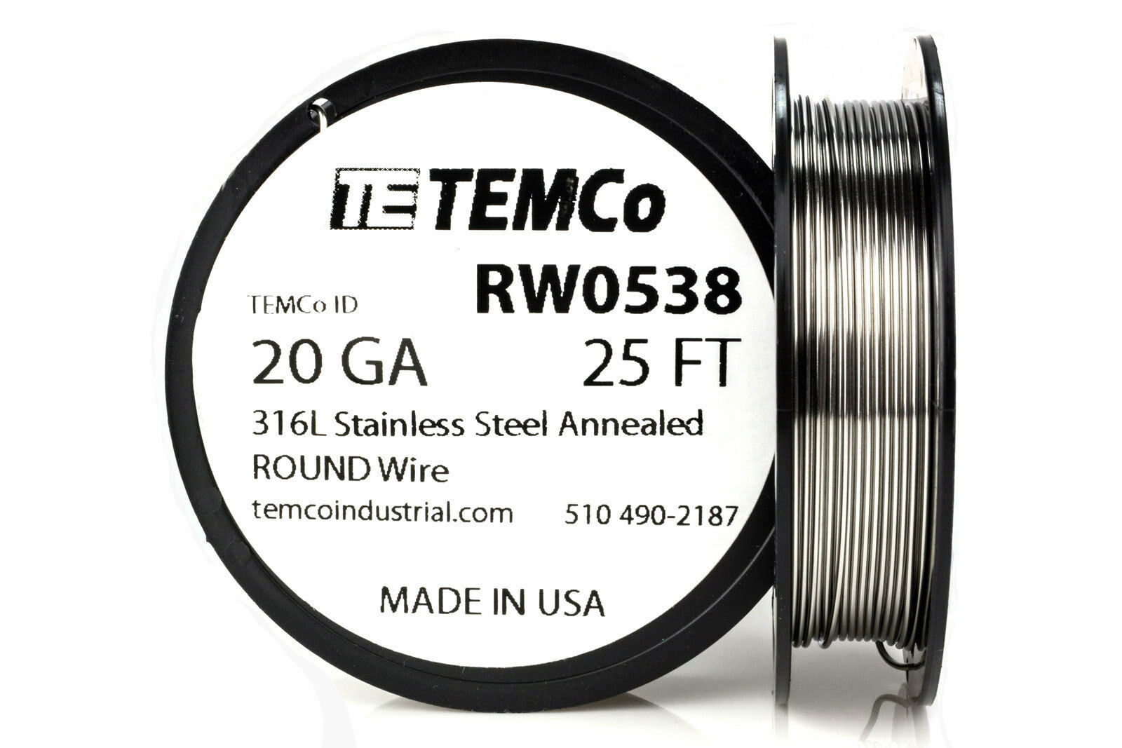TEMCo Stainless Steel Wire SS 316L - 20 Gauge 25 FT Non-Resistance on austenitic stainless steel, tool steel, stainless steel wire management, carbon steel, stainless steel outlet, bessemer process, weathering steel, stainless steel piping, stainless steel ceiling, stainless steel connectors, stainless steel guy wire, stainless steel components, cold-formed steel, stainless steel braided lines, stainless steel fittings, stainless steel battery, alloy steel, stainless steel plug cap, stainless steel panels, stainless steel harness, stainless steel metal roof, stainless steel brakes, stainless steel plumbing, stainless steel adapters, martensitic stainless steel, stainless steel soap, maraging steel, polyvinyl chloride, stainless steel resistors, stainless steel cable hangers, stainless steel paint job, surgical stainless steel,