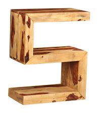 Item 1 Cube Light Sheesham Furniture S Shaped Side Table C34l