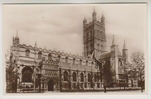 Gloucestershire postcard - South Porch, Gloucester Cathedral - (A187)