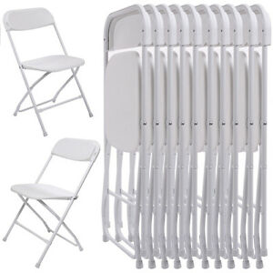 White Plastic Folding Chairs.Details About New 10pcs Commercial White Plastic Folding Chairs Stackable Wedding Party Chair