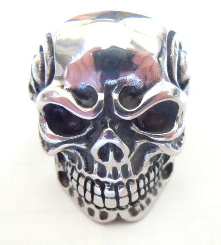 291373d1dffe 4 of 5 Men s Gothic Skull Ring - Stainless Steel Rocker Evil Skeleton Biker  Jewelry UK