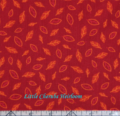 """/""""Animal Party Too!/"""" Funky Leaves Rust Schimler Fabric BHY"""