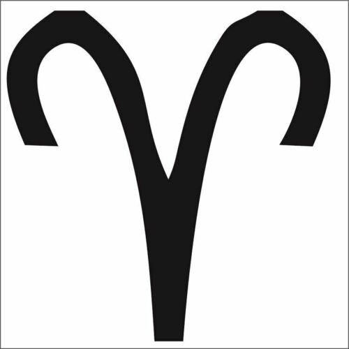 Aries Zodiac Decal Stars Astrology Horoscope Choose Size /& Color Sticker