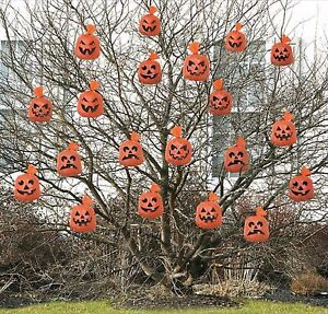 Halloween-Party-Supplies-Hanging-Pumpkins-Decoration-20-Plastic-Pumpkin-Bags